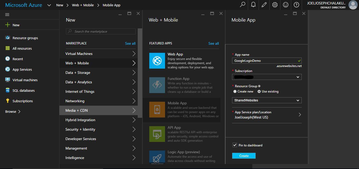 Google Authentication in Existing UWP App Using Azure Mobile App SDK